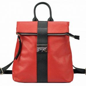 Kožený dámsky módny batôžtek Patrizia Piu červená