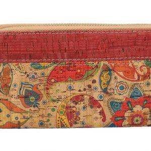 Dámska peňaženka v korkovom dizajne s obvodovými zipsami