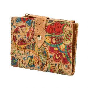 Dámska peňaženka v korkovom dizajne