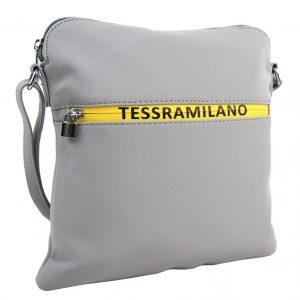 Športová crossbody dámska textilná kabelka 5329-BB sivá