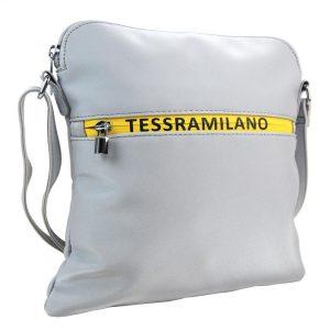 Športová crossbody dámska textilná kabelka 5329-BB strieborná