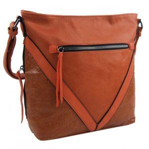 Oranžová stredne veľká crossbody dámska kabelka