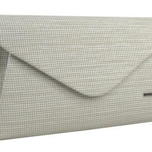 Luxusná krémová listová kabelka so strieborným nádychom