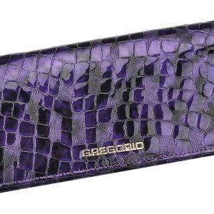 Gregorio Kožená fialová dámska peňaženka v darčekovej krabičke