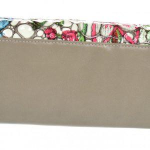 Kožená dámska peňaženka vo farebnom motíve RFID šedá v darčekovej krabičke